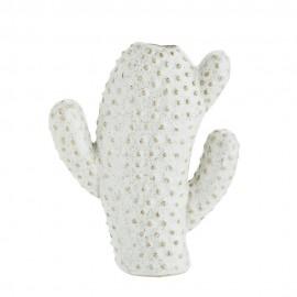 petit vase forme cactus gres blanc madam stoltz