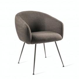 pols potten buddy fauteuil de table confortable rembourre textile gris