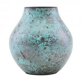 house doctor kojo petit vase metal patine turquoise