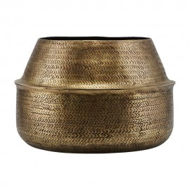 house doctor rattan grand cache pot aluminium finition laiton dore