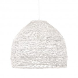 hk living ball m grande suspension cloche osier blanc