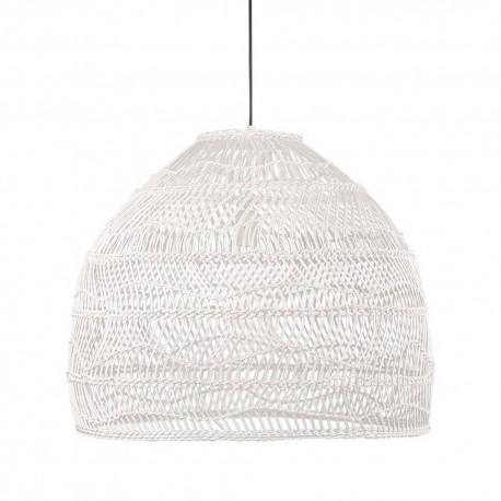 hk living ball m grande suspension cloche osier blanc