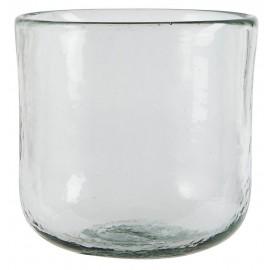 pot de fleur en verre epais transparent ib laursen d 14.5 cm