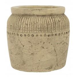 cache pot terre cuite beige antique ancien craquelé ib laursen luxor