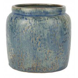 ib laursen cache pot ancien ceramique patine bleu d 15 cm