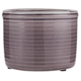 cache pot rainure ceramique emaillee violet ib laursen