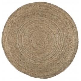 tapis rond jute naturel ib laursen 120 cm