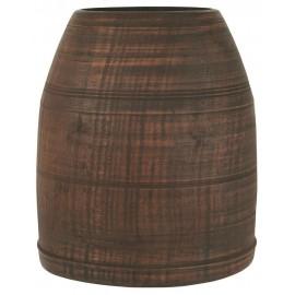 Vase pot rustique bois recyclé IB Laursen Himalaya Unique