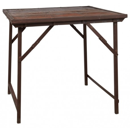 table carree bois rustique recycle ancien style campagne ib laursen unique
