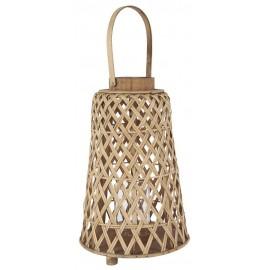 lanterne ronde decorative bois bambou tresse ib laursen