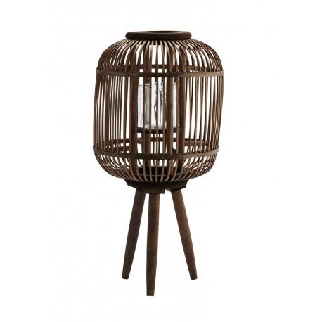 madam stoltz lanterne decorative sur pieds bambou