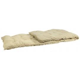 Coussin long pour banc ou transat coton rayures IB Laursen jaune