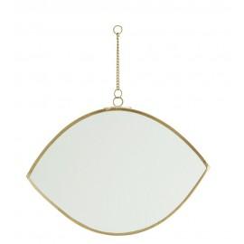 petit miroir a suspendre forme d oeil laiton madam stoltz