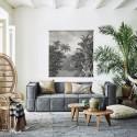 hk living affiche toile murale xxl jungle coton imprime baguettes bois