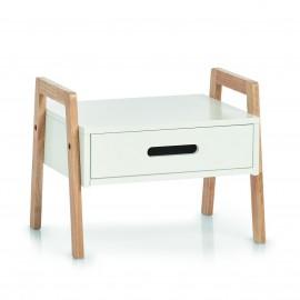 petit meuble etagere avec tiroir empilable bois blanc zeller
