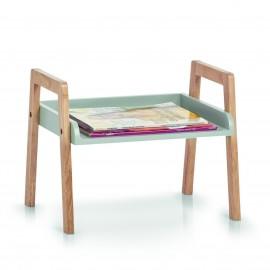 meuble etagere empilable a poser bois gris zeller