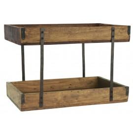 petite etagere a poser plan de travail 2 niveaux bois camapgne ib laursen