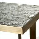 Bout de canapé carré style chic verre métal Pols Potten Ripple