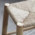 house doctor kalyan tabouret bois bambou naturel jonc de mer