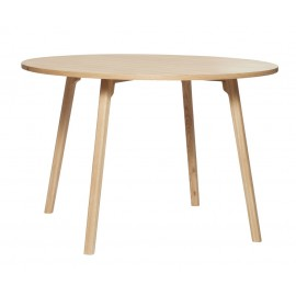 hubsch table ronde moderne bois clair salle a manger style scandinave