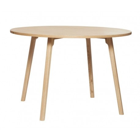 hubsch table ronde moderne bois clair salle a manger style scandinave