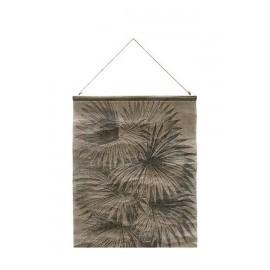 Toile imprimée kakemono vintage feuilles de palmier HK Living