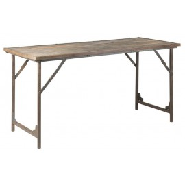 ib laursen unique table a manger rustique bois recycle 60 x 150 cm