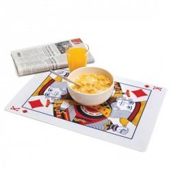 SET DE TABLE ORIGINAUX DESIGN CARTES ROYALES