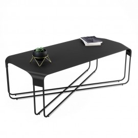 Table basse rectangulaire contemporaine métal Umbra Graph noir