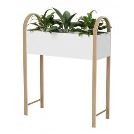 umbra grove porte plante etagere moderne contemporaine bois metal blanc