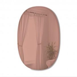 Grand miroir ovale biseauté teinté Umbra Bevy cuivré