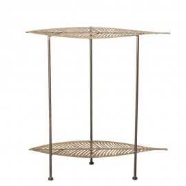 bloomingville table d appoint forme de feuille metal dore