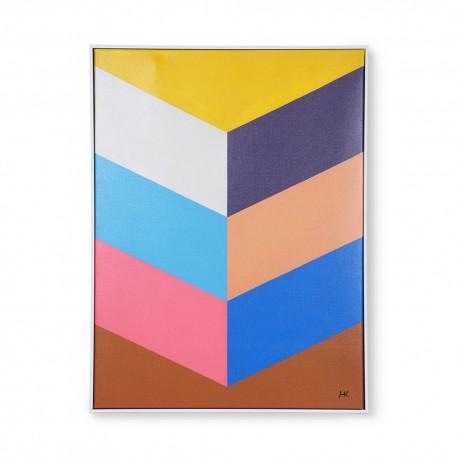 Peinture tableau multicolore cadre HK Living Strokes