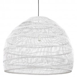 hk living ball l grande suspension xl osier blanc