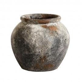 Vase pot en terre cuite rustique aspect vieilli Muubs Jar Echo 25