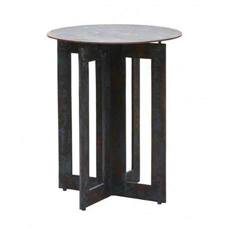 Table basse bout de canapé métal vieilli House Dotor Frame