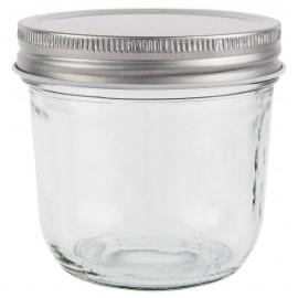 petit bocal verre de conservation vintage couvercle metal  ib laursen