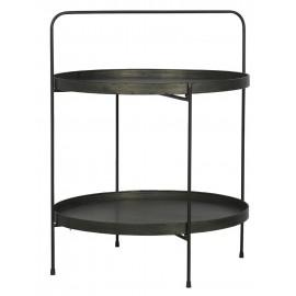 Table d'appoint ronde métal industriel 2 plateaux IB Laursen