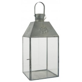 lanterne vintage metal gris verre ib laursen