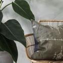 house doctor inka housse de coussin carre lin vert kaki 50 x 50 cm