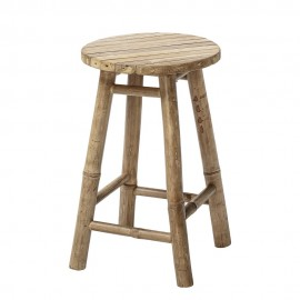 Tabouret rond campagne rustique bois bambou Bloomingville Sole