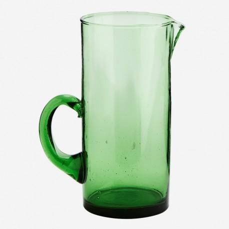 madam stoltz carafe a eau verre recycle vert