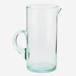 Carafe à eau verre recyclé Madam Stoltz transparent
