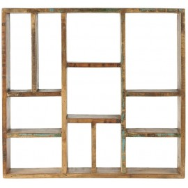 etagere murale carree multi niches bois recycle campagne ib laursen