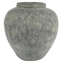 grande jarre pot en ciment gris vintage ib laursen