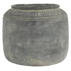 cache pot ciment gris style vintage campagne ib laursen cleopatra