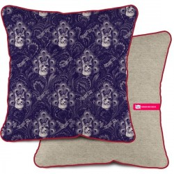 COUSSIN VELOURS DÉCORATION SALON BLUE CAT 35 x 35