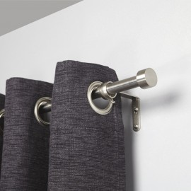 Tringle à rideaux extensible simple métal argent Umbra Cappa