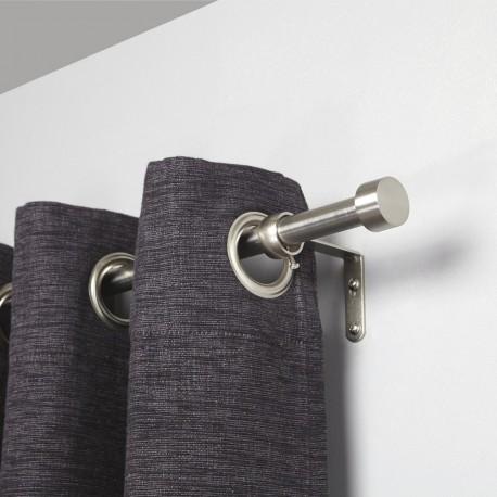 umbra cappa tringle a rideaux extensible simple metal argent