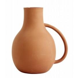vase argile anse couleur terracotta nordal promise